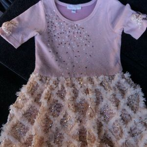 baby sara Dresses - A beautiful toddler pink and champagne dress